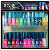 L.A. colours Nail Art Polish - 26 Colours Collection with 2 3-D Nail Art Stickers