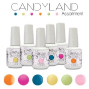 Gelish CANDYLAND Collection Set 6 Soak Off Colours Nail Harmony Gel Candy Land