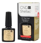 LOT 3 CND Shellac TOP COAT Gel UV Creative Nail Polish 5ml Manicure Soak Off
