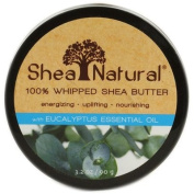 Shea Natural 1121714 100 Percent Whipped Shea Butter with Eucalyptus Essential Oil - 3.2 oz