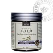 Organic Body Butter - Raw Shea - Exotic Patchouli, Geranium