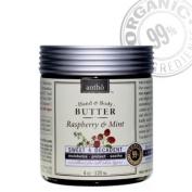 Organic Body Butter Cream - Raw Shea Butter - Raspberry Mint