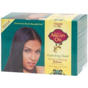 Hawaiian Silky Argan Oil Hydrating Sleek Relaxer Kit Regular