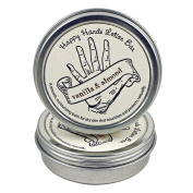 "Vanilla & Almond ""Happy Hands"" Solid Lotion Bar, All-Natural with Beeswax and Shea Butter"