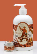 Dolce Mia Wild West Cowboy Leathery Western Shea Butter Natural Lotion With Organic botanicals 350ml Pump