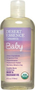 Desert Essence Baby Body and Massage Oil Cuddle Buns Softening, Fragrance Free, 4 Fluid Ounce