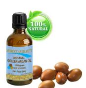 Moroccan Beauty Golden Argan Oil, 100% Pure, Organic, Cold Pressed, for Professional Use, 1oz-30ml