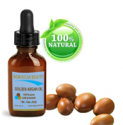 Moroccan Beauty Golden Argan Oil, 100% Pure, Cold Pressed, for Professional Use, 1oz-30ml