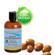 Moroccan Beauty Golden Argan Oil, 100% Pure, Cold Pressed, Certified Organic, for Professional Use, 2ounce-60ml
