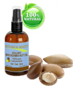 Botanical Beauty Macadamia Nut Oil, 100% Pure/ Natural, Cold Pressed, 4 oz-120 ml