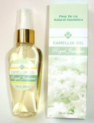 Camellia Oil - Royal Jasmine, 2oz / 60 ml., 100% Pure and Natural, Cold Pressed, Organic, -- Anti Ageing, Dry Skin, Acne Scars, Stretch Marks, Hair Conditioner