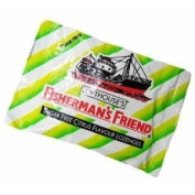 5 pack Fisherman's Friend Menthol Cough Suppressant,Sugar Free Lemon 25*5g.
