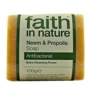 Faith In Nature Pure Vegetable Soap. Neem & Propolis. 100g Bar