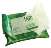 Faith In Nature 7.6cm 1 Facial Wipes Naturally Gentle Cleanse & Moisturise 25 Wipes