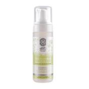 NATURAL & ORGANIC Moisturising Foam for Eye Makeup Remover for Sensitive Skin with Rhodiola Rosea, Lily, Potentilla Supina, Active Organics Herbs 150 ml