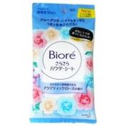 Kao Biore Sarasara Powder Sheets | Skin Care Cleansing Cloth | Soap 10 Sheets