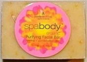 SpaBody Organic Pink Grapefruit & Shea Butter Purifying Facial Bar - 100ml - Bar