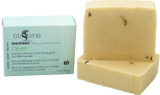 Blissoma natural skincare Clean Smooth & Sensitive Organic Facial Cleansing Bar with Oatmilk and Lavender