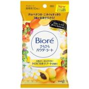 Kao Biore Sarasara Powder Sheets | Skin Care Cleansing Cloth | Deodorantet 10 Sheets Tropical Resort