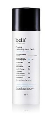 KOREAN COSMETICS, LG Household & Health Care_ belif, Crystal cleansing foam Fresh (150ml, gel, Oily Skin)[001KR]