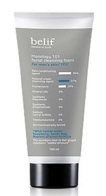 KOREAN COSMETICS, LG Household & Health Care_ belif, Manology 101 Facial Cleansing Foam 160ml (Homme, men's cosmetics)[001KR]