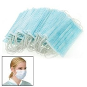 Ear Loop Medical Surgical Dust Face Mask 50pcs Blue