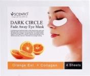 Scentio Orange Dark Circle Eye Mask Sheet 4 Sheet
