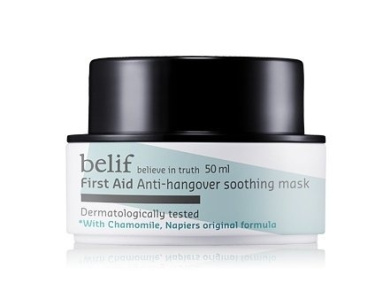 KOREAN COSMETICS, LG Household & Health Care_ belif, First Aid - Anti-Hangover Soothing Mask 50g (refreshing, sensitive skin)[001KR]