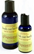 Bath and Massage Oil - Fresh Cut Herbs By the Grapeseed Co