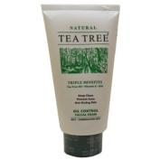 Tea Tree Oil Control Facial Foam Natural Vitamin E Epo Size 140 G.(4.94 Oz.) X 1 Tube