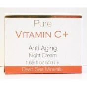 Pure Vitamin C+ AntiAging Night Cream, 50 ml (All Skin Types)./ Dead Sea Minerals by Spa Cosmetics LTD (made in Israel).