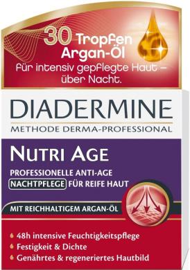 Genuine German Diadermine Nutri Age Regenerating Anti-Age Night Care Cream 1.7oz. / 50ml