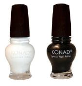 "Konad Special Polish Gold Black +White 12 Ml + Itay 3 Stack Shimmers in ""Caribbean Samba"""