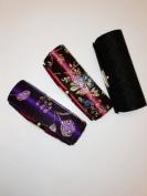 Lipstick Case 3pcs Set Lipstick Case w/Mirror,Hi-End Japanese Textiles Fabric with Floral Design ,Random Colours, Assorted 8.9cm L x 3.2cm W Holds 1pc Standard Lipstick ,Super Value , .  d !