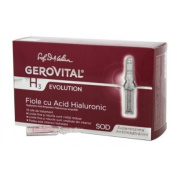GEROVITAL H3 EVOLUTION, Hyaluronic Acid Ampoules With Superoxide Dismutase (The Anti-Ageing Super-Enzyme) 30+ (10 ampoules x 2ml)
