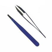 Tnt/rubis Tweezer - Blue Handle With Polymer Slant Tips