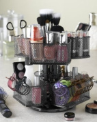 Nifty Cosmetic Organising Carousel, Silver