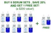 Hydroderm Day/Night Wrinkle Reducing Serum System - 6 PACK, BUY 6, GET 1 FREE!