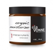 Organic Moisturiser + Free Organic Exfoliant - Elavonne Organic Intense Nutrients - 30ml - Normal to Dry, Sensitive, Mature Skin
