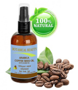Arabica Coffee Seed Oil, 100% Pure/ Natural. For Face, Body and Hair. Wrinkle Reducer, Anti- Puffiness / Dark Circles, Anti Cellulite. 4 oz- 120 ml