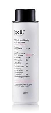 KOREAN COSMETICS, LG Household & Health Care_ belif, Witch Hazel Herbal Extract Toner 200ml (for dry skin, moisturising, nutrition supply)[001KR]