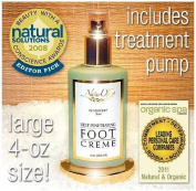 NaturOli Deep Penetrating Foot Creme - Large 120ml size! Possibly the most effective, natural foot creme available! No more sore, cracked and calloused feet!