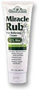 Miracle Rub Pain Relieving Cream 240ml Say Goodbye to Tired, Aching Muscles and Joints Due to Arthritis, Rheumatism and Bursitis. Penetrates Deep and Provides Soothing Pain Relief Quick! Fast Acting Ingredients Provide Relief of Minor Muscular Aches and P