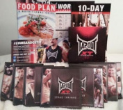 NEW Tapout XT Workout Training 15 DVDS 90 Day Fitness Programme+Resistance Band