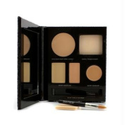 The Flawless Face Book - # Nude (1x Creme Compact, 1x Pressed Powder w/ sponge, 1x Secret Camouflage...), 5pcs
