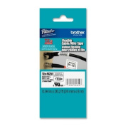 TZe Flexible Tape Cartridge for P-Touch Labelers, 1in x 26.2ft, Black on White
