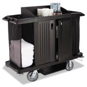 Housekeeping Cart, 22w x 60d x 50h, Black