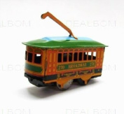 tin toys wind up 80s nostalgic metal classic tram toy collection