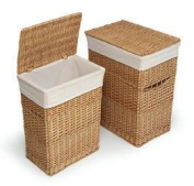 Best Quality Natural Two Hamper Set with Liners By Badger
