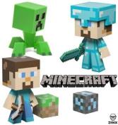 Mojang Minecraft 15cm Vinyl Toy Set of 3 - Steve!, Diamond Steve! and Creeper